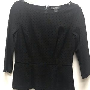 White House Black Market Muted Dots Top
